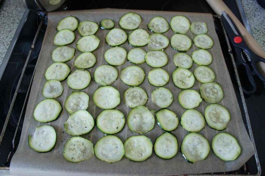 Zucchini auf Blech